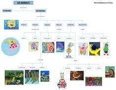 Clasificación de los Invertebrados con Bob Esponja