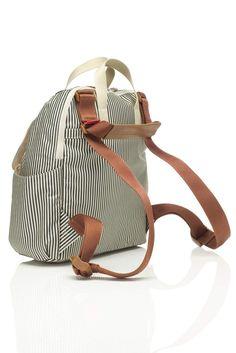 Wickelrucksack gestreift Unisex, Bucket Bag, Backpacks, Bags, Fashion, Pram Sets, Hook And Loop Fastener, Stripes, Leather