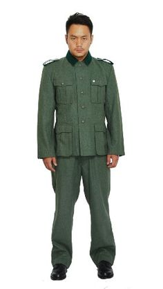 Generic Men's WWII German M36 EM Wool Field Uniform Tunic And Trousers S Green Generic http://www.amazon.com/dp/B00GMO5UB2/ref=cm_sw_r_pi_dp_5UGfub0M40BPM