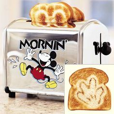 Now that I have a kid I feel like it would be totally ok for me to have this Mickey toaster :)