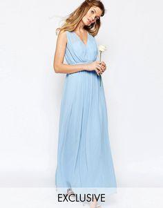 Vila+Cinched+Waist+Maxi+Dress