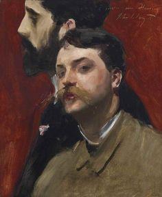 John Singer Sargent (1856-1925)   François Flameng and Paul Helleu ...