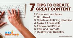7 Tips to Create Great Content  #entrepreneur #smallbusiness #socialmedia #mediamarketing #network #networkmarketing #success #goals #beyourself #advertise #contentmarketing #Digitalmarketing #SEO #blogging #marketing #branding #marketingtips #marketingstrategy #b2bmarketing #business #startup #smallbiz #biztips #businesstips #b2b