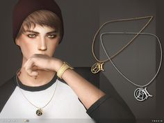 Sims 4 CC's - The Best: Gemini Necklace by Toksik