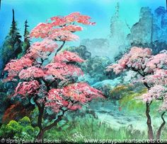 Cherry Tree -   On an adventure through green mountains, coming across a restful valley. Sit under the cherry tree and relax. This is an improv from www.spraypaintartsecrets.com