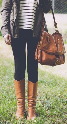 Love the Boots & the Purse ♥ #fall #fashion