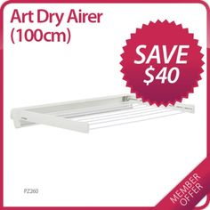 Howards Storage World | MEMBER OFFER: Save $40 on Art Dry Wall Airer 100CM