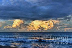 Sunset On The Ocean by Olga Hamilton