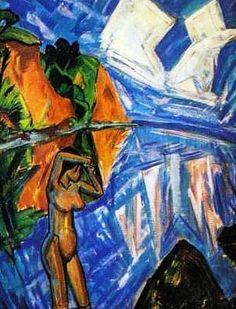 Erich Heckel, 'The Glassy Day', 1913, oil on canvas. Staatsgalerie Moderner Kunst, Munich
