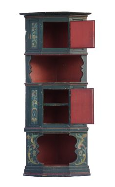 C19th Northern European Painted Corner Cupboard - Decorative Collective Corner Cabinets, Corner Cupboard, Painting, Home Decor, Corner Medicine Cabinet, Corner Dresser, Painting Art, Interior Design, Paintings