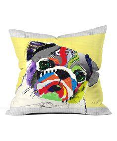Pug Throw Pillow #zulily #zulilyfinds