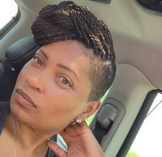 Perfect Senegalese Twists Updo With Shaved Sides Or Undercut For The Spring Summer Months