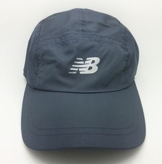 NEW BALANCE GO2 RUNNING ADJUSTABLE STRAP GREY HAT/CAP (ONE SIZE FITS MOST)-NEW #NewBalance #RUNNINGHATCAP