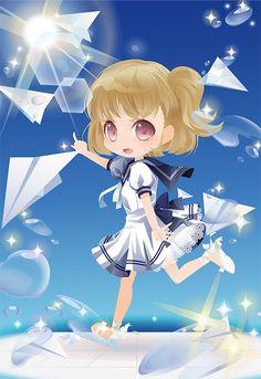 風と空の唄|@games -アットゲームズ- Miku Chibi, Kawaii Chibi, Anime Chibi, Chibi Characters, Girls Characters, Game Character, Character Design, Cocoppa Play, Anime Hair