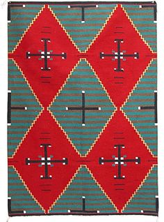 Love the Combination of Colors in This Native American Rug. Green, Red, Brown, Black, White and Yellow Native American Blanket, Native American Rugs, American Indian Art, Native American Indians, Native Americans, Navajo Weaving, Navajo Rugs, Southwest Rugs, Indian Rugs