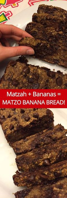 Matzo Meal Banana Bread Passover Recipe - - This delicious banana bread recipe uses matzo meal instead of flour - what a perfect dessert for Passover! Moist and sweet bread with a deep banana flavor and chocolate chips throughout - yum! Passover Desserts, Passover Recipes, Jewish Recipes, Passover Food, Passover 2017, Passover Feast, Kosher Recipes, Cooking Recipes, Sweets