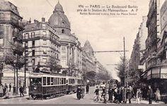 boulevard Barbès - Paris 18ème Paris 1900, Old Paris, Paris Vintage, Alpine Village, Palace Of Versailles, Roman Theatre, Old City, Belle Epoque, Paris Skyline