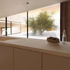 Commercial Interior Design, Home Interior Design, Interior And Exterior, Modern Architecture Design, Interior Architecture, Atrium, Italy House, Minimal Home, Dream House Plans