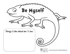Mixed Up Chameleon and A Color of His Own - Be Myself - free printable from OMazing Kids