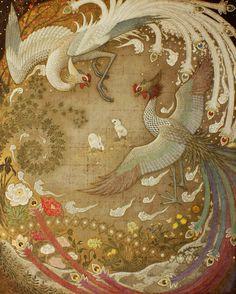 Toshiyuki Enoki creates subtle work with elements of traditional Japanese painting and contemporary illustration. Japanese Painting, Chinese Painting, Oriental, Art Chinois, Art Asiatique, China Art, Japanese Prints, Japan Art, Contemporary Artists