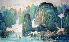 chinese landscape for beginners-inkdance painting studio