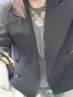 CAbi camo jeggings, Batteau neck tee and luxe tux jacket