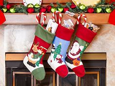 3 Pcs Set Classic Christmas Stockings 18 Cute Santas Toys Stockings Embroidered -- Learn more by visiting the image link. (This is an affiliate link) Christmas Stocking Stuffers, Christmas Stockings, Christmas Gifts, Christmas Stuff, Merry Christmas, Seasonal Decor, Holiday Decor, Stocking Tree, Christmas Accessories