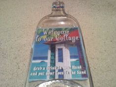 welcome to our Cottage   Melted Bottle cheese by Collectivekayos, $15.00