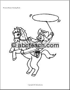 Abcteach Cowboy Rodeo Theme Unit