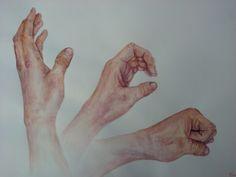 Má ruka - watercolor