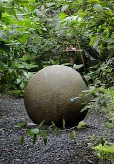 One of Costa Rica's mysterious stone spheres on display at the National Museum in San Jose. These perfectly conicle-shaped stones are thought to have been hard carved by indigenous people thousands of years ago.