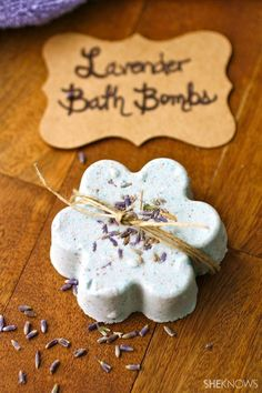 DIY Lavender Bath Bombs.