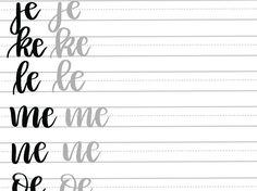 A Drive-elem indexkép-előnézete Brush Lettering Worksheet, Lettering Guide, Bullet Journal Lettering Ideas, Hand Lettering Practice, Lettering Styles, Bullet Journal Ideas Pages, Calligraphy Worksheet, Hand Lettering For Beginners, Hand Lettering Tutorial