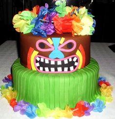 Tiki (Luau) Cake