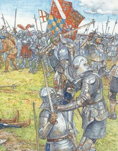 C+D:The death of James IV of Scotland on Flodden September Medieval Knight, Medieval Art, Medieval Fantasy, Military Art, Military History, Fantasy Images, Fantasy Art, Anglo Saxon History, Landsknecht
