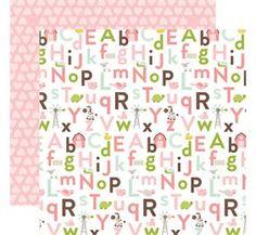 Echo Park Bundle of Joy 2 Alphabet Antics Baby Girl Scrapbook Paper