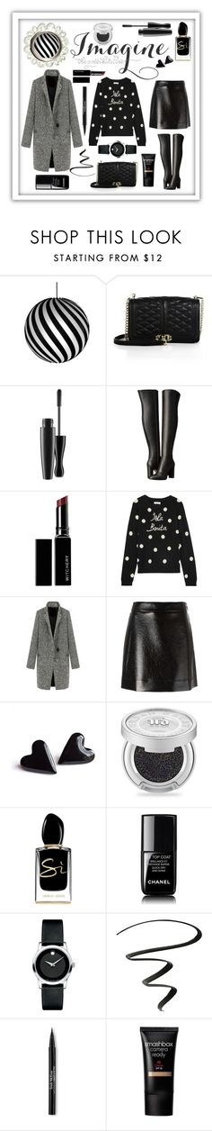 """Imagine The Possibilities #wintersweater"" by shaheenk ❤ liked on Polyvore featuring David Trubridge, Rebecca Minkoff, MAC Cosmetics, MICHAEL Michael Kors, Witchery, Chinti and Parker, Urban Decay, Giorgio Armani, Movado and NYX"