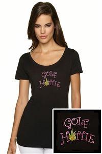 """Women's """"Golf Hottie"""" Bling T-Shirt."""