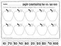 Skip Counting by 10's Freebie