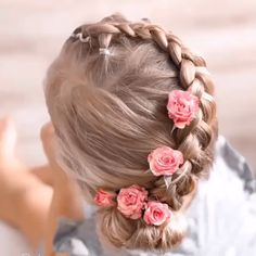 If you wanna see more fab hair style for your baby girl just visit our cutie-pie web site! Easy Little Girl Hairstyles, Flower Girl Hairstyles, Trendy Hairstyles, Braided Hairstyles, Female Hairstyles, Beach Hairstyles, School Hairstyles, Kayley Melissa, Ribbon Hairstyle