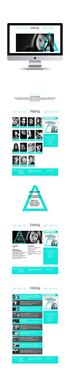 Prima Casting | Site Wordpress on Behance