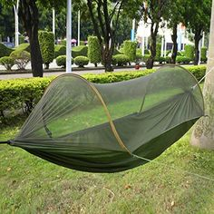 amazon lightning deal 53  claimed  forfar camping hammock with mosquito   portable parachute nylon 19 99   amazon canada raku portable outdoor traveling camping      rh   pinterest