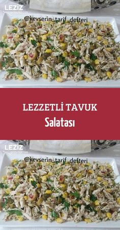 Delicious Chicken Salad recipes - Chicken Recipes - Yemek Tarifleri - Resimli ve Videolu Yemek Tarifleri Best Salad Recipes, Healthy Chicken Recipes, Pasta Recipes, Dinner Recipes, Cooking Recipes, Chopped Salad, Turkish Recipes, Healthy Eating, Meat Recipes