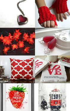 Radiant Reds by Jessi Calvo on Etsy--Pinned with TreasuryPin.com