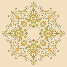 Victorian Ceiling Medallion Stencil by Royal Design Studios    What's accentuating your chandelier?