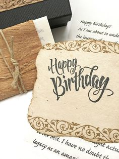 Meaningful Birthday Gift For Him Romantic Boyfriend Personalized Letter Handmade Card Unusual Present Men