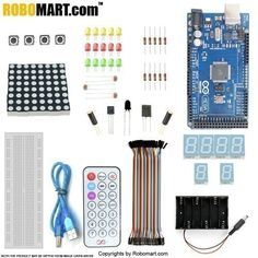 This is the new Robomart MEGA 2560 R3 Starter Kit, developed specially for those beginners who are interested in Arduino. Arduino Mega 2560 R3 kit will help you control the physical world with sensors.