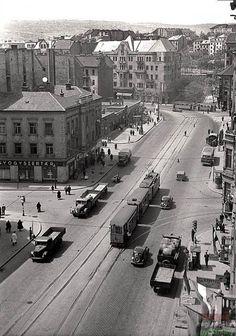Ilyen is volt Budapest - Mártírok útja (Margit körút) Old Pictures, Old Photos, History Photos, Most Beautiful Cities, Budapest Hungary, Homeland, Historical Photos, Paris Skyline, Street View
