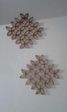 Decoración con rollos de papel higiénico ;)
