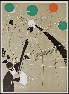 La Danse Macabre, 1927 Yan-Bernard Dyl (Ill.) , Pierre Mac Orlan by peacay, via Flickr